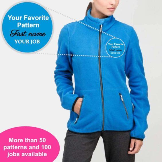 Personalize your fleece jacket
