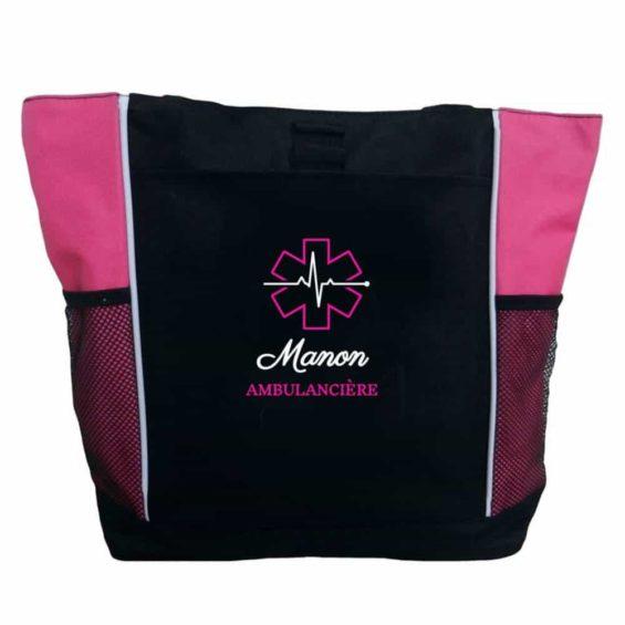 sac ambulancière rose